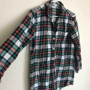 J.Cree oversized plaid flannel shirt